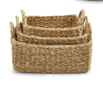 SEAGRASS BASKET RECTANGLE