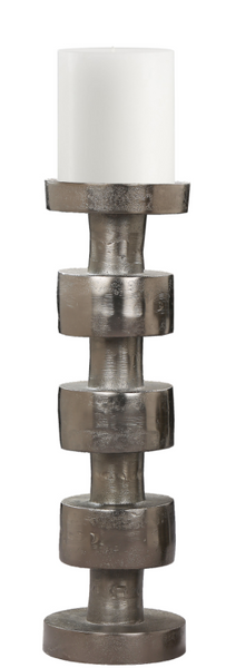 Aluminum Raw Pewter Candle Holder
