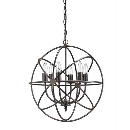 Round Metal Chandelier, Lighting, Laura of Pembroke