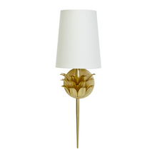One Arm Gold Leaf Sconce