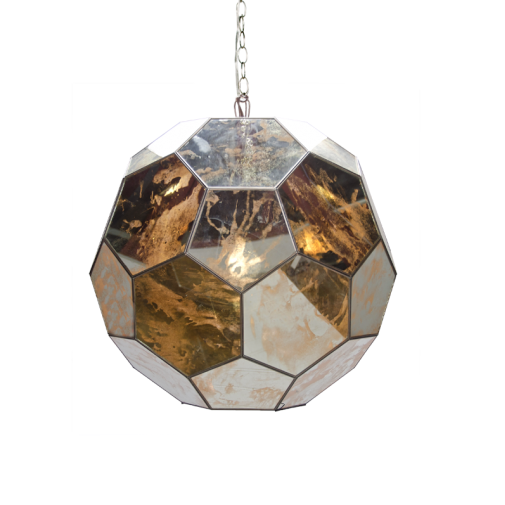 Mirrored Small Ball Pendant, Lighting, Laura of Pembroke