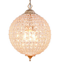 "Ball Chandelier, 18"", Lighting, Laura of Pembroke"