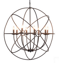 "36"" Iron Orb Chandelier, Lighting, Laura of Pembroke"