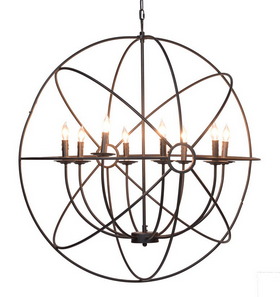 36 iron orb chandelier laura of pembroke 36 iron orb chandelier lighting laura of pembroke laura of pembroke canton ohio boutique aloadofball Image collections