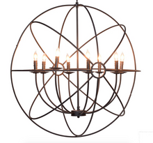 "36"" Iron Orb Chandelier"