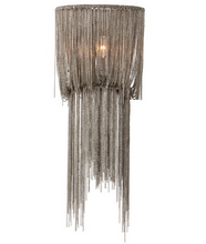 Draped Nickel Chains Sconce, Small