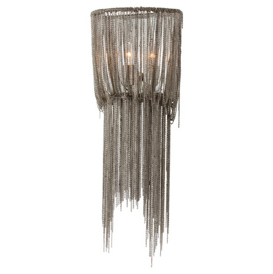 Draped Nickel Chains Sconce, Small, Lighting, Laura of Pembroke