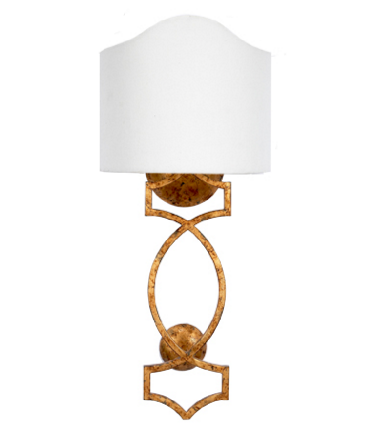 Gold Wall Sconce with Shade, Lighting, Laura of Pembroke