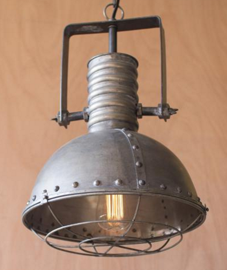 Large Metal Cage Pendant, Lighting, Laura of Pembroke