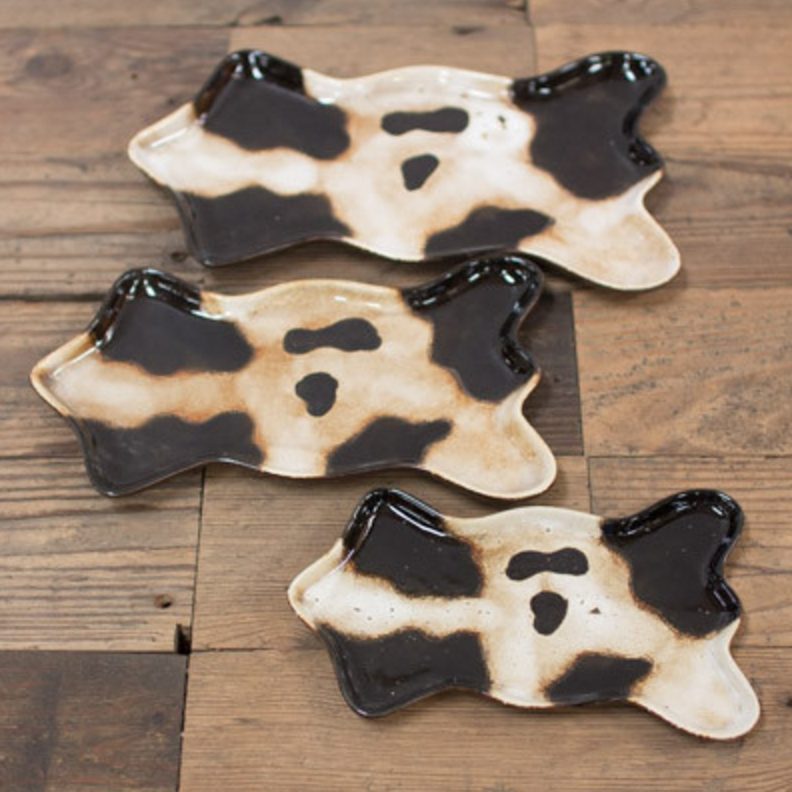 Ceramic Cow Trays