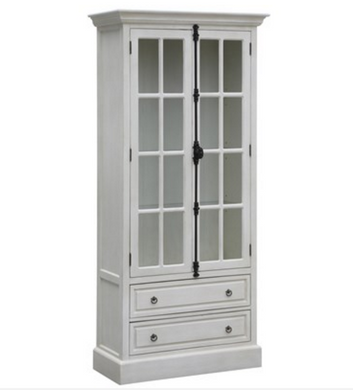 White Oak 2 Door Curio