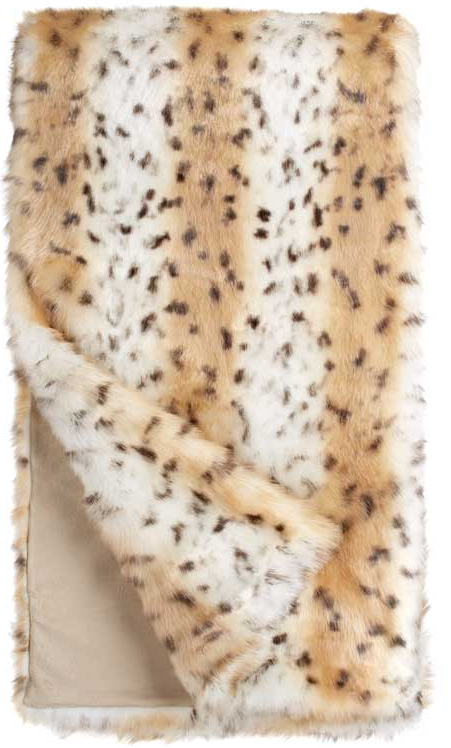 Snow Leopard Throw 60x60, Home Accessories, Laura of Pembroke