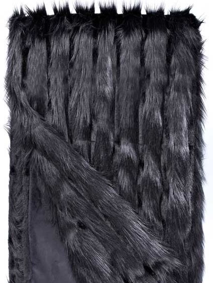 Black Vertical Fox Throw 60X60, Home Accessories, Laura of Pembroke
