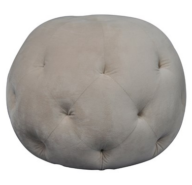 Round Tufted Ottoman, Home Furnishings, Laura of Pembroke