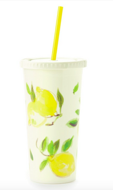 Tumbler with straw, Lemon, Gifts, Laura of Pembroke