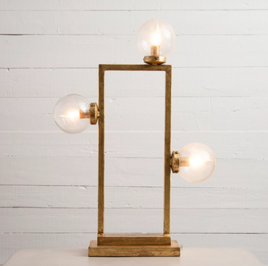 Modern Table Lamp- Gold Leaf, Home Accessories, Laura of Pembroke