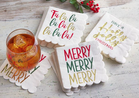 Christmas Paper Napkins, Gifts, Mud Pie, Laura of Pembroke