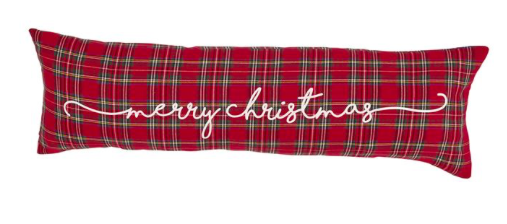 Tartan Merry Christmas Pillow