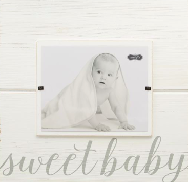 Gray Sweet Baby Large Square Frame