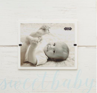 Blue Sweet Baby Large Square Frame