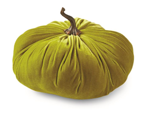 Large Green Velvet Pumpkin, Gifts, Mud Pie, Laura of Pembroke
