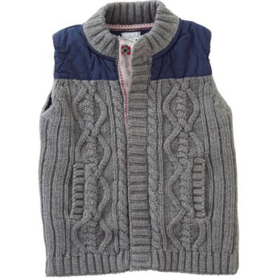 Sweater and Nylon Vest Size S