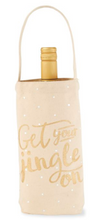 Gold Canvas Wine Bags
