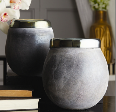 Sandblast Hematite Vase, Home Accessories, Laura of Pembroke
