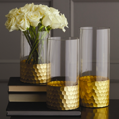 Golden Beehive Vase, Home Accessories, Laura of Pembroke