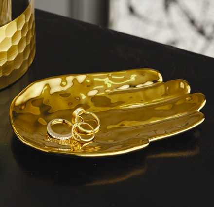 Golden Palm Tray