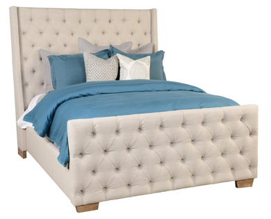Tufted Queen Bed, Home Furnishings, Laura of Pembroke