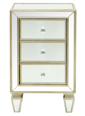 Mirrored Accent Chest with Drawers, Home Furnishings, Laura of Pembroke