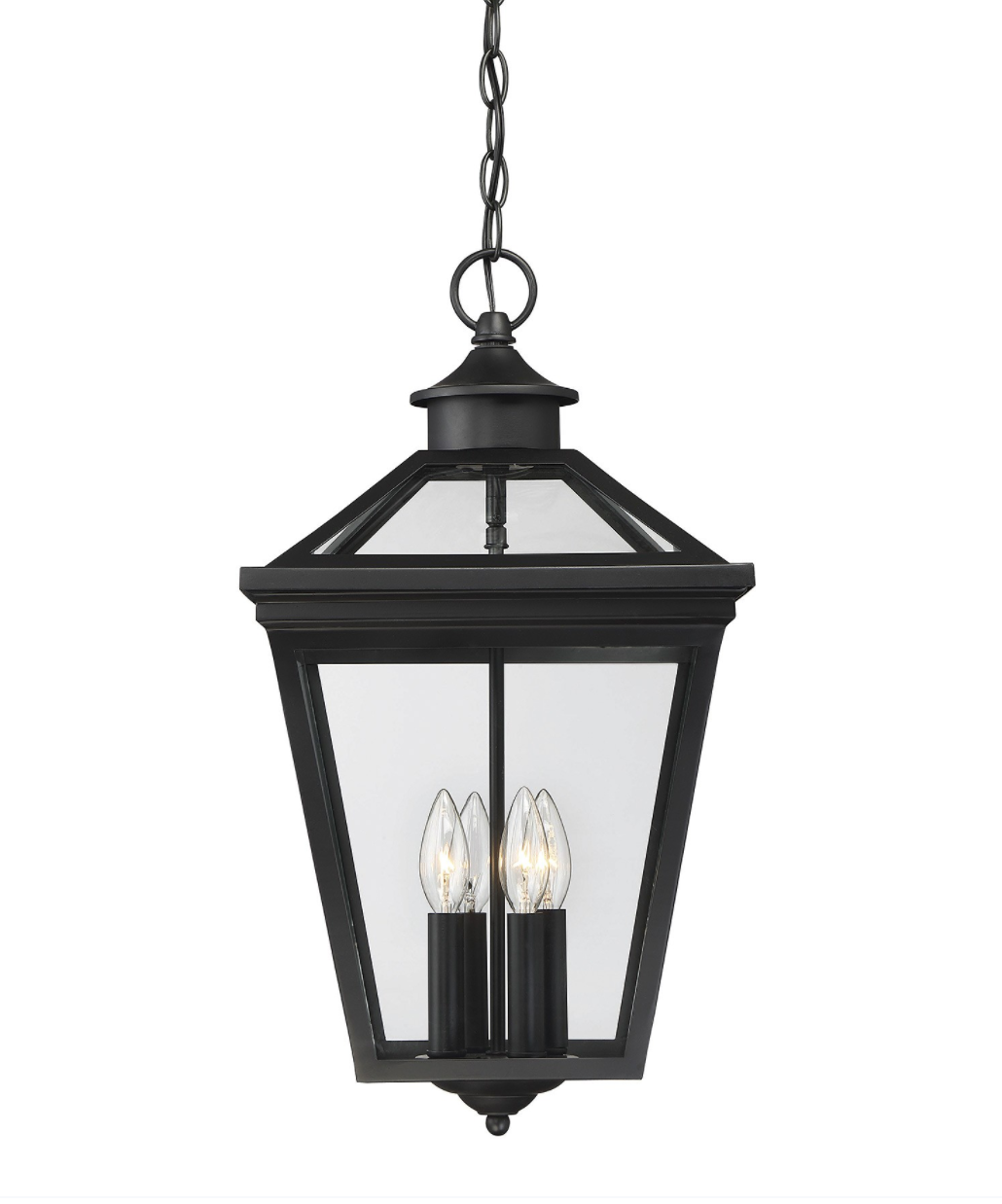 Classic Black Steel Hanging Lantern, Lighting, Laura of Pembroke