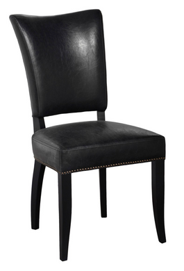 Black Inspired Leather Dining Chair, Home Furnishings, Laura of Pembroke
