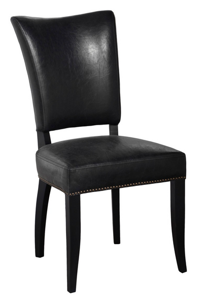 Black Inspired Leather Dining Chair