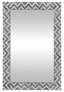 Bone and Grey Chevron Mirror, Home Accessories, Laura of Pembroke
