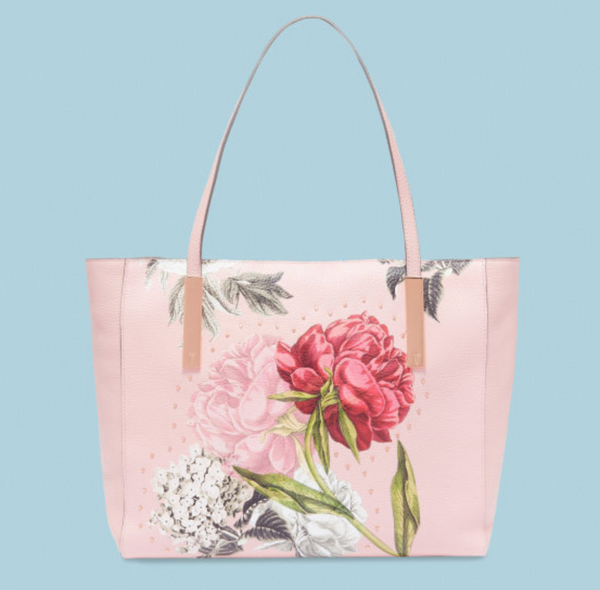 Peonina Palace Gardens Large Leather Tote Bag