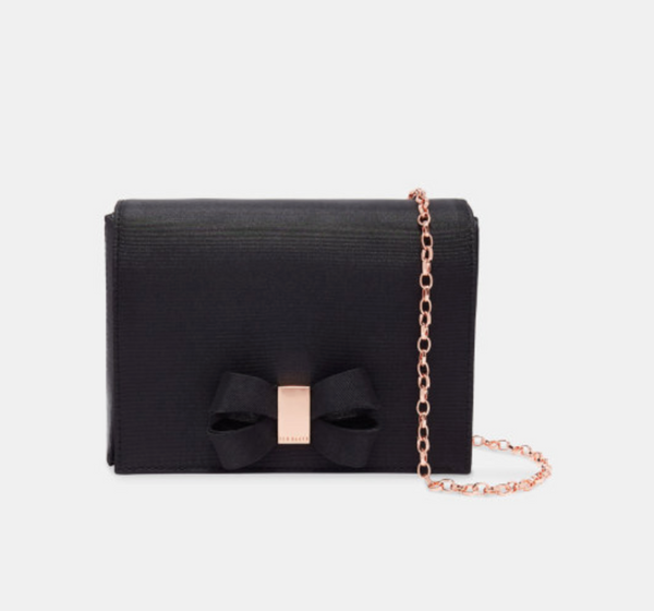 Stacyy Looped Bow Evening Bag