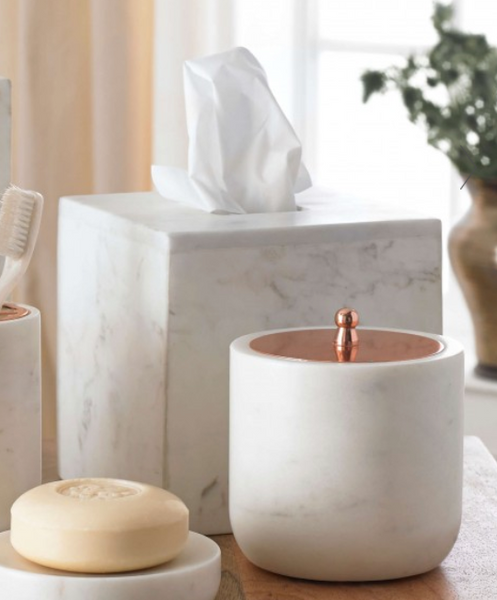 Calacatta Marble Tissue Holder