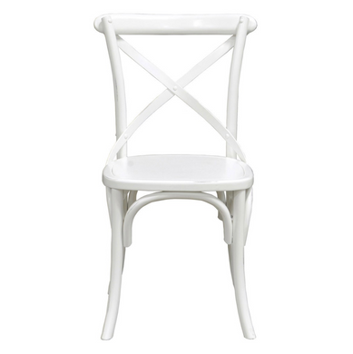 White Crisscross Dining Chair