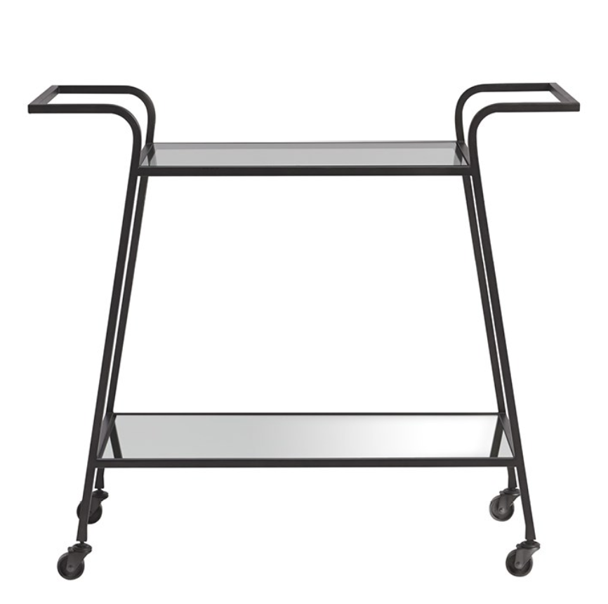 Dark Bronze Bar Cart, Home Furnishings, Laura of Pembroke