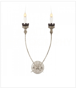 Aged Silver Wall Sconce