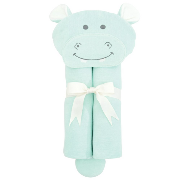 Aqua Hippo Hooded Bath Wrap