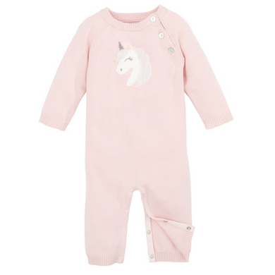 Pink Unicorn Knit Jumpsuit, Baby, Elegant Baby, Laura of Pembroke
