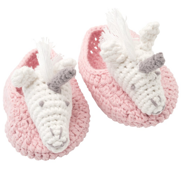 Pink Unicorn Booties