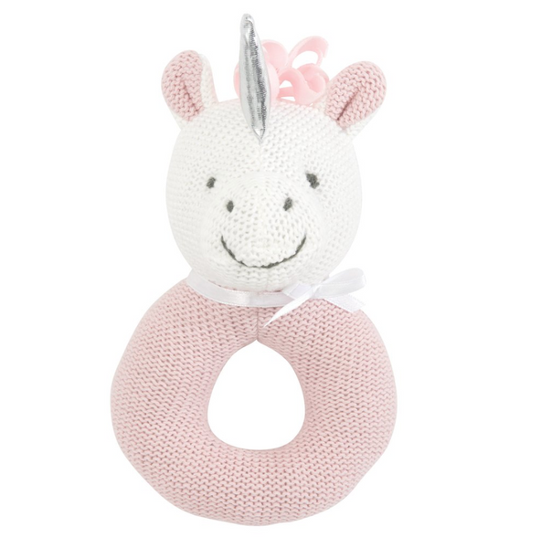 Pink Unicorn Ring Rattle