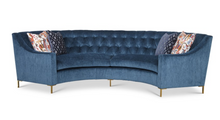 Diamond Tufted Curved Sofa
