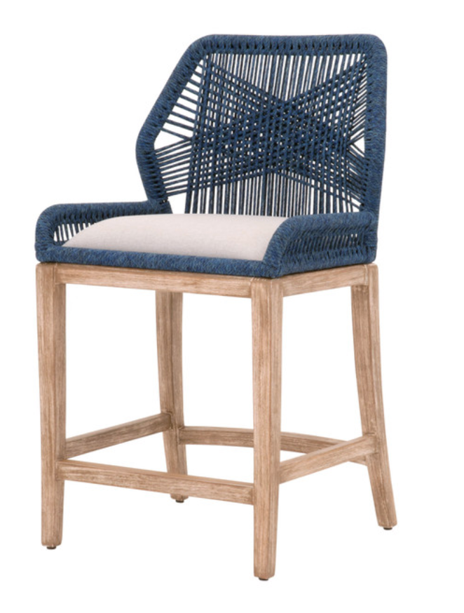 Indigo Loom Counter Stool