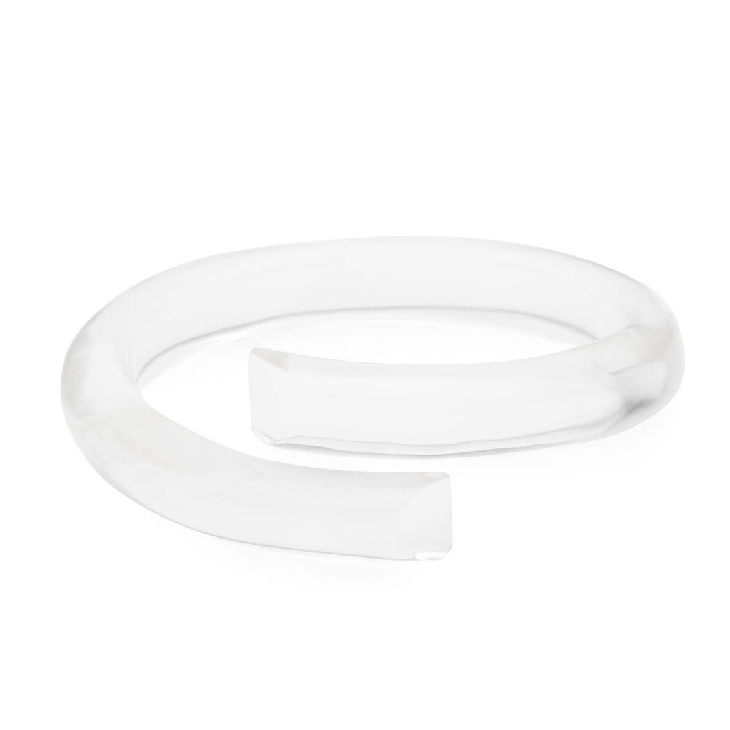 Sculptural Bypass Bangle Bracelet