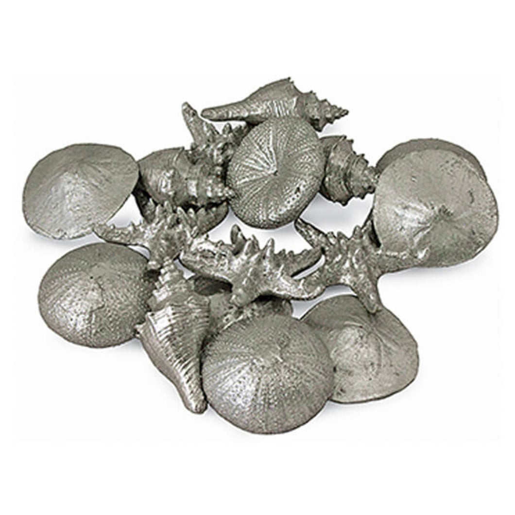 Set of 12 Assorted Silver Mini Shells, Home Accessories, Laura of Pembroke